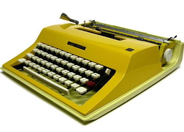 Modern-gold-typewriter